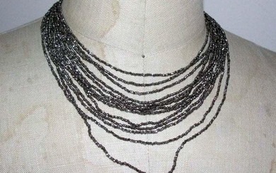 Victorian Cut Steel Multi Strand Necklace