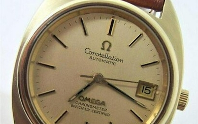 Vintage 14k & SS OMEGA CONSTELLATION CHRONOMETER