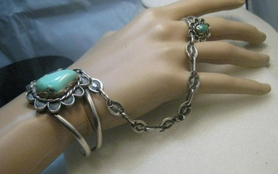Vintage Southwestern/Native American Turquoise Cuff