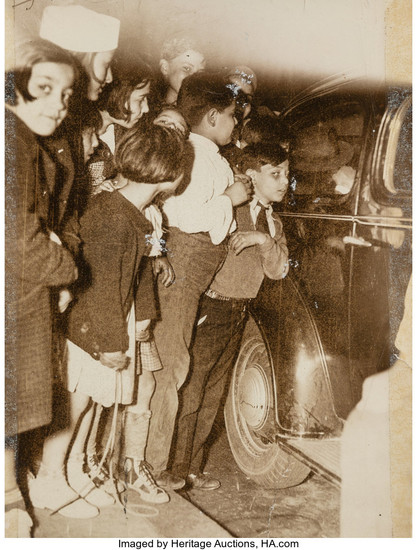 """Weegee (1899-1968), Hatchet Murderess Whose Kids Were """"In the Way"""" (seven photographs) (May 1937)"""
