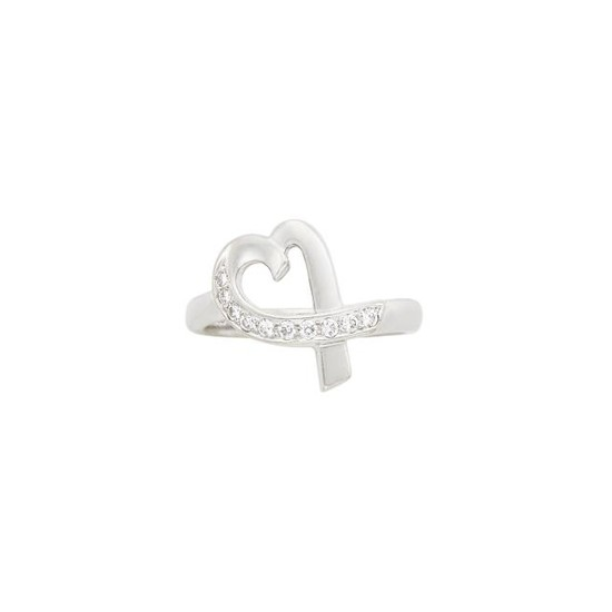White Gold and Diamond Heart Ring, Tiffany & Co., Paloma Picasso