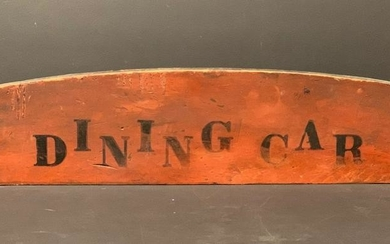 c. 1900 DINING CAR Train sign