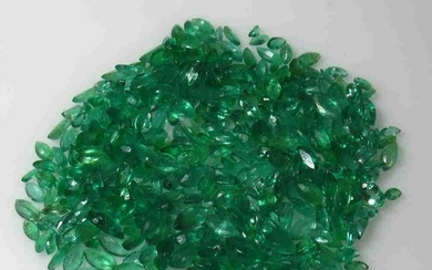 108.45 Ctw Natural Zambian Emerald Marquise Lot
