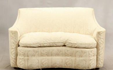 "UPHOLSTERED LOVE SEAT & CHAIR, 2 PCS H 34"", L 57"""