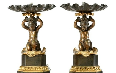 19th Century French Patinated and Gilt Bronze Figural