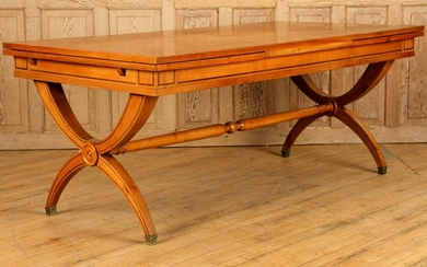 FRENCH NEOCLASSICAL STYLE CHERRY DINING TABLE