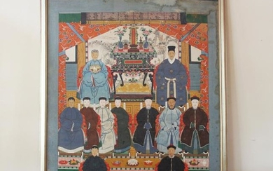 3 Tier Chinese Ancestral Painting