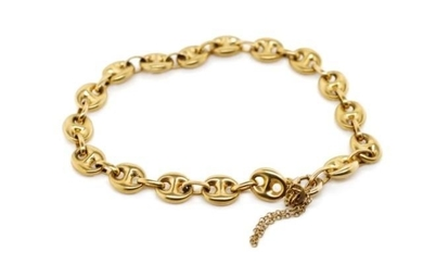 "9ct yellow gold ""mariner"" link bracelet marked 9k Italy. App..."