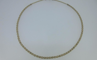 A 9ct gold fancy link chain necklace by Unoaerre,