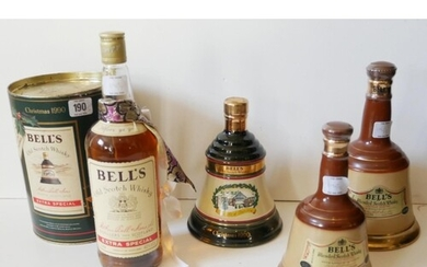 A COLLECTION OF BELLS VINTAGE WHISKEY Comprising of a 1990 C...