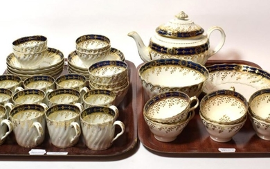 A Chamberlains Worcester part tea and coffee service comprising: teapot,...
