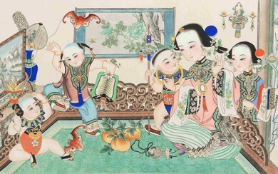A Chinese Ink and Color Painting