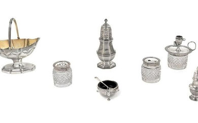 A Collection of English Silver Holloware Articles