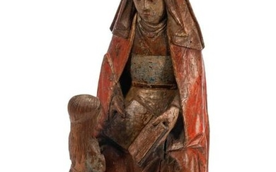 A Continental Carved and Polychromed Figural Group