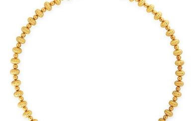 A GOLD BEAD NECKLACE, ILIAS LALAOUNIS in 18ct yellow