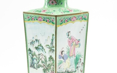 A LARGE CHINESE BEIJING ENAMEL VASE 20TH CENTURY