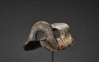 A RARE LIAO DYNASTY LACQUERED WOOD & COPPER SADDLE