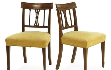 A Set of Four Sheraton Style Dining Chairs.