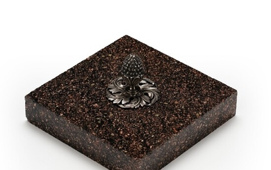 A Swedish 19th century porphyry paperweight.