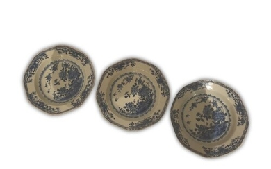 A collection of three 18th Century Chinese export porcelain ...