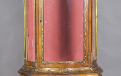 A late 19th/early 20th century French Louis XV style kingwood and gilt metal mounted vitrine, the ca