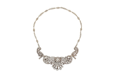 A mid to late 19th century diamond necklace