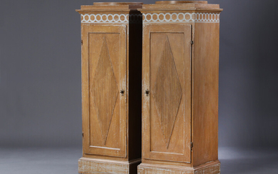 A pair of neoclassical pedestal cabinets, Sweden approx. 1800 (2)