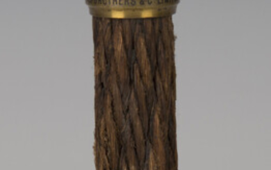 A section of transatlantic 'Direct United States Cable', each brass capped end with engrav