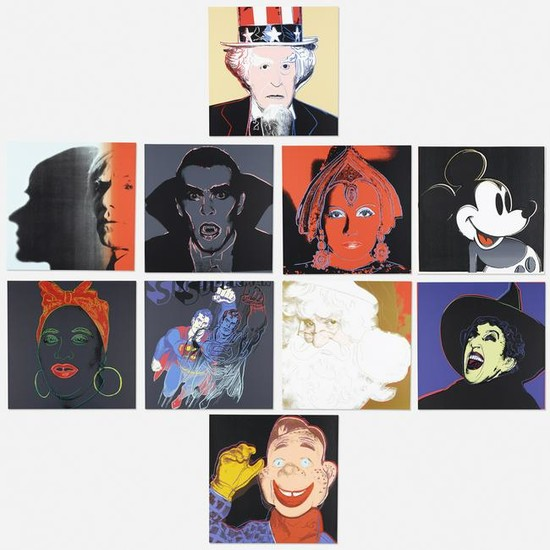 After Andy Warhol, Ten works