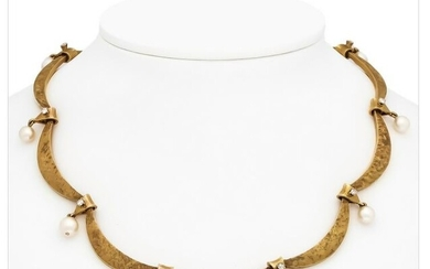 Akoya brilliant necklace
