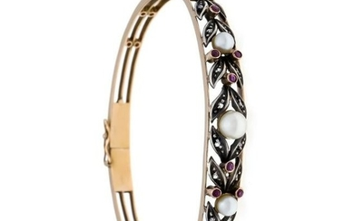 Akoya ruby diamond bangle