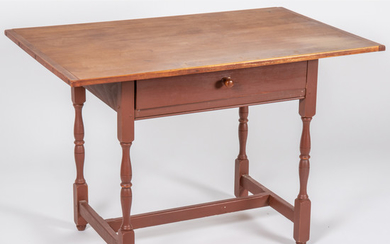 An American Painted Pine Work Table