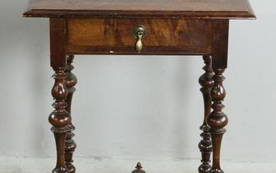 Antique William & Mary One Drawer Table