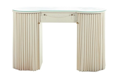 Art Deco white-painted dressing table