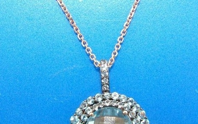 BEAUTIFUL 14k Rose Gold Designer Necklace with
