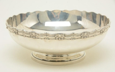 Bowl by Dominick & Haff, NY, 1906. Applied shell motif