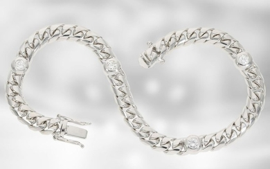 Bracelet: new and modern worked diamond bracelet in...