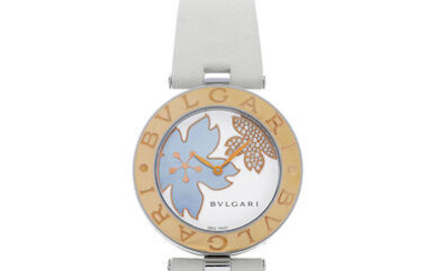 Bvlgari | B.Zero1, A Pink Gold and Stainless Steel Wristwatch with Mother-Of-Pearl and Diamond-Set Dial, Circa 2019