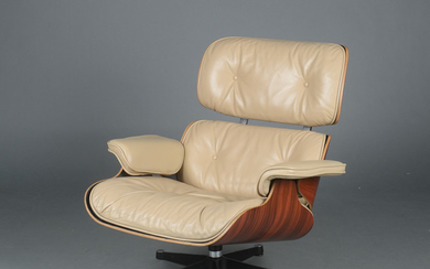 Charles Eames. Lounge chair, rosewood and leather