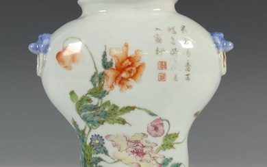 China, porcelain wall vase, possibly early 20th century,...