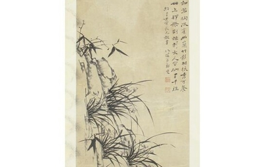 Chinese Painting Of Bamboo And Orchid