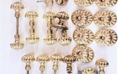 Collection Of Baldwin Brass Knobs And Matching Locks