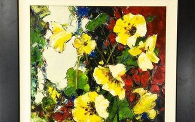 Contemporary Oil Painting Floral Subject