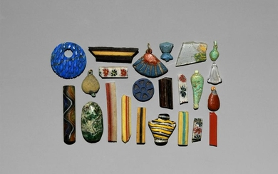 Egyptian Glass Inlay, Pendant and Bead Collection