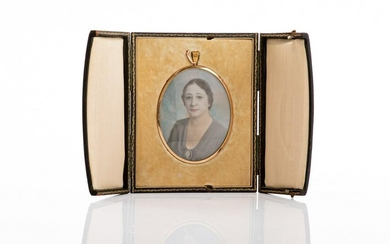 FRAMED OVAL PORTRAIT MINIATURE