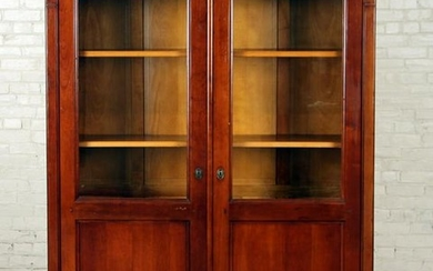 FRENCH DIRECTOIRE STYLE TWO DOOR BOOKCASE
