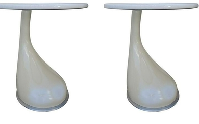 French Roche Bobois Contemporary Lacquered Glass Top