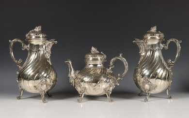 Germany, three-piece coffee service in Rococo style, consisting...