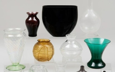 Group of Small Glass Table Articles