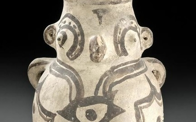Huastec Panuco Pottery Zoomorphic Jar w/ Parrot Face